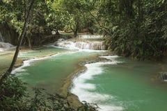 Cascada de Kuang Si Foto de archivo