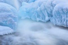 Cascada de la cala de la gaviota del invierno Imagen de archivo libre de regalías