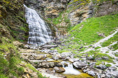 Cascada de la Cueva waterfall in Ordesa valley Pyrenees Huesca S. Pain Arazas river Stock Photo
