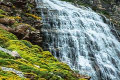 Cascada de la Cueva waterfall in Ordesa valley Pyrenees Huesca S. Pain Arazas river Royalty Free Stock Photography