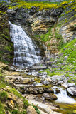 Cascada de la Cueva waterfall in Ordesa valley Pyrenees Huesca S. Pain Arazas river Royalty Free Stock Photos