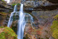 Cascada de la Cueva waterfall Ordesa valley Pyrenees Spain Stock Image