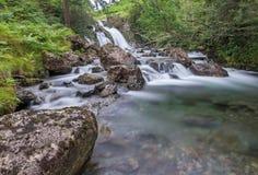 Cascada de la fuerza de Riston, distrito inglés del lago, Cumbria Foto de archivo libre de regalías