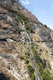 Cascada de la ladera Fotografía de archivo