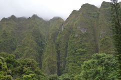 Cascada de la montaña de Koolau Fotografía de archivo libre de regalías