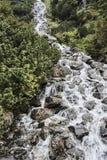 Cascada de la montaña en el lago Morskie Oko Fotografía de archivo libre de regalías