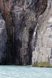 Cascada de la parte inferior del glaciar Imágenes de archivo libres de regalías