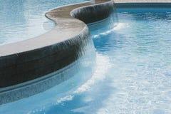 Cascada de la piscina Imagen de archivo libre de regalías