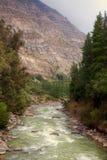Cascada de las Animas em Cajon del Maipo, o Chile Imagens de Stock