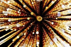Cascada de las cañas de bambú Imágenes de archivo libres de regalías