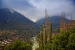 Cascada De Las w Cajon Animas Del Maipo, Chile Obrazy Stock