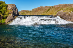 Cascada de Laxfoss en Islandia Imagen de archivo