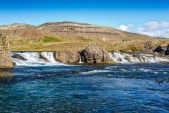 Cascada de Laxfoss en Islandia Fotos de archivo