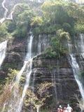 Cascada de los Chorros del Baral 库存照片