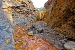 Cascada de los Colores in Caldera de Taburiente National Park on Stock Photo