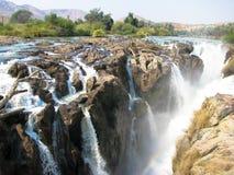 Cascada de Namibia Epupa Foto de archivo libre de regalías