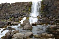 Cascada de Oxararfoss Imagen de archivo