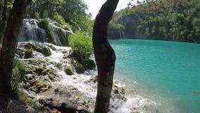 Cascada de Plitvice en la cámara lenta almacen de video
