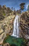 Cascada de Radule en alto Golo Valley de la isla de Córcega Foto de archivo