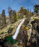 Cascada de Radule en la isla de Córcega Fotografía de archivo libre de regalías