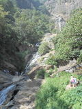 Cascada de Rawana en Sri Lanka Fotos de archivo