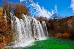 Cascada de San Pedro in Teruel Sierra Albarracin Royalty Free Stock Photo
