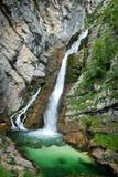 Cascada de Savica Foto de archivo libre de regalías