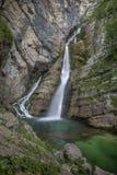 Cascada de Savica Fotos de archivo