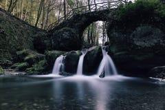 Cascada de Schiessentuempel en Luxemburgo Imagen de archivo