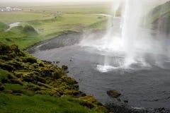 Cascada de Seljalandsfoss, Islandia Imágenes de archivo libres de regalías