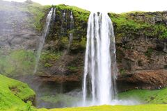 Cascada de Seljalandsfoss, Islandia fotografía de archivo libre de regalías