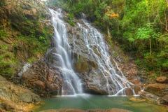 Cascada de Seri Mahkota Endau Rompin Pahang Fotos de archivo libres de regalías