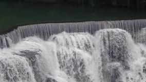 Cascada de Shifen, Pingxi, nueva Taipei, Taiw?n Atracci?n tur?stica popular almacen de metraje de vídeo