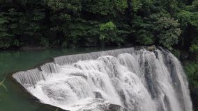 Cascada de Shifen, Pingxi, nueva Taipei, Taiw?n Atracci?n tur?stica popular almacen de video