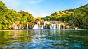 Cascada de Skradinski Buk en el parque nacional de Krka Imagen de archivo libre de regalías