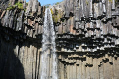 Cascada de Svartifoss Fotos de archivo