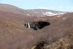 Cascada de Svartifoss en Islandia Foto de archivo libre de regalías