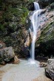 Cascada de Tre Cannelle en Camosciara fotos de archivo