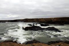 Cascada de Urriðafoss (Foss) en Islandia Imagen de archivo libre de regalías