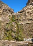 Cascada del acantilado de Crystal Cove California Foto de archivo libre de regalías