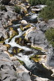 Cascada del alcantara del río imagen de archivo