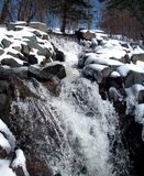 Cascada del invierno Imagenes de archivo