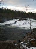 Cascada del nacional de MÃ¥lselvfossen Norways Foto de archivo libre de regalías