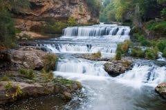 Cascada del parque de estado del río del sauce Imagen de archivo