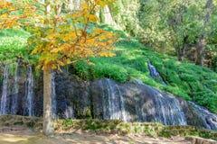 Cascada del parque en el otoño I Imagen de archivo