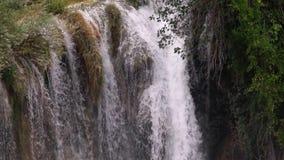 Cascada del río de Krka en la cámara lenta metrajes
