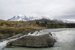 Cascada del Rio Paine waterfall in Torres del Paine National Park, Patagonia, Chile Stock Photography