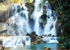 Cascada del sri de Kwang en Laos Fotografía de archivo
