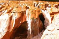 Cascada del travertino Foto de archivo libre de regalías