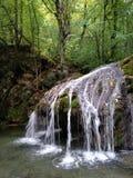 Cascada del verano de Crimea Fotografía de archivo libre de regalías
